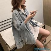 風衣外套 風衣女中長款小個子2021新款流行秋裝時尚牛仔外套韓版寬松薄大衣 快速出貨