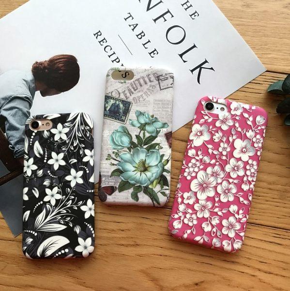 創意 清新 碎花 蘋果 手機殼 iPhone7 iPhone6 plus i6s i7 矽膠 軟殼 全包 保護套