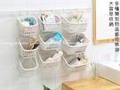 【雙鉤置物籃】長方形大號 可疊加掛式收納籃 桌面雜物置物盒