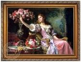 歐式人物手繪油畫 手繪歐式油畫客廳 古典人物手繪油畫0716