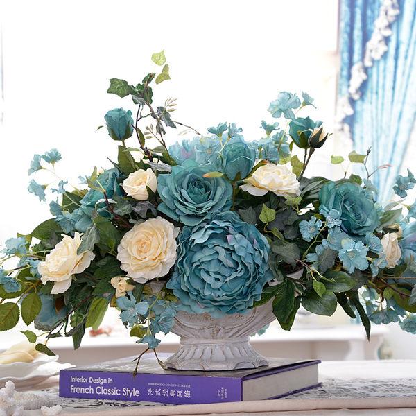 模擬花假花 套裝 花藝 客廳餐桌 裝飾花 花瓶花束 -bri0206100170