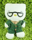 【震撼精品百貨】Hello Kitty 凱蒂貓~KITTY絨毛娃娃-KITTY爺爺圖案-綠色