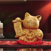 擺件  金色招財貓開業實用創意禮品新人朋友結婚禮物陶瓷儲錢罐家居擺件  酷動3CDF