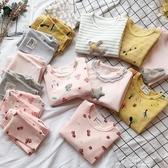 童裝女童春裝新款韓版舒適居家服睡衣長袖長褲休閒兩件套裝【快出】