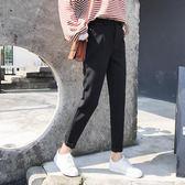 黑色褲子女哈倫褲2018秋季新款韓版西裝褲九分小腳寬鬆百搭休閒褲