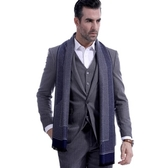 羊毛圍巾-紳士時尚條紋毛鬚秋冬防寒男女披肩3色73ts16【時尚巴黎】