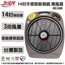 友情牌 14吋手提節能箱扇.電風扇 KB-1488 ~台灣製造