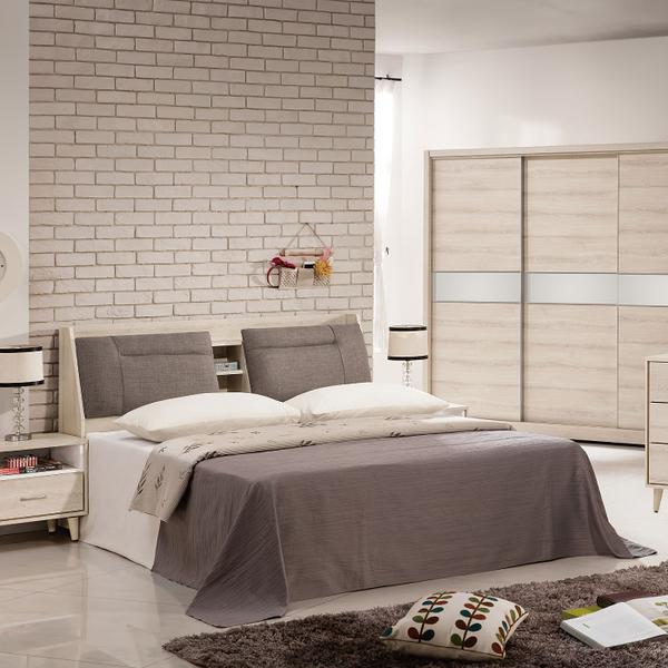 床組 5尺床頭+白像床底 艾瑪 397-3w 愛莎家居