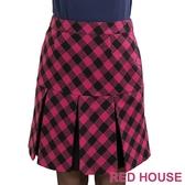 【RED HOUSE 蕾赫斯】菱格紋百褶裙(共二色) 滿1111折211