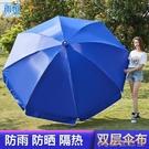 戶外傘 太陽大型雨傘超大號戶外傘商用擺攤傘防曬廣告傘定制圓傘 俏俏家居