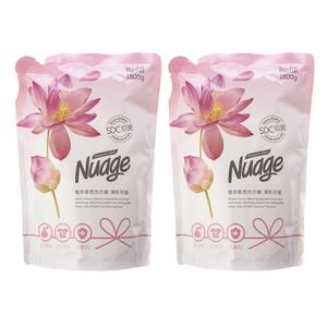 (組Nuage植萃抗菌香氛洗衣精補充包1800ml-清新荷蓮x2包