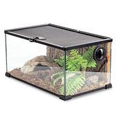 龜箱陸龜蜥蜴蛇守宮爬寵爬蟲爬箱寵物玻璃角蛙飼養箱鬃獅  享購