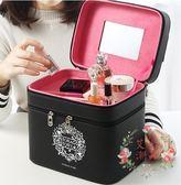 化妝包 - 雙層多功能手提化妝簡約收納盒