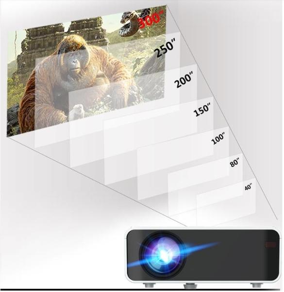 新款投影儀家用wifi無線可連手機一體機1080p白天高清4K家庭影院臥室宿舍學生小型 伊蒂斯 LX
