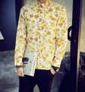 FINDSESNE MD獨家品牌 供應 a高質感 優惠 花襯衫 花系列 花卉 碎花 滿版 襯衫 大尺碼 加大 襯衫 花