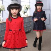 女童洋氣裙子韓版春裝針織公主裙