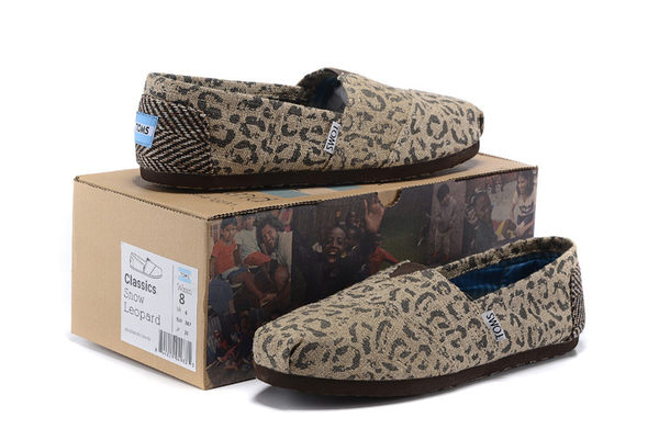 [正品] TOMS 豹紋麻布舒適休閒懶人鞋 啡色 -清倉特賣$690(買二送ㄧ)