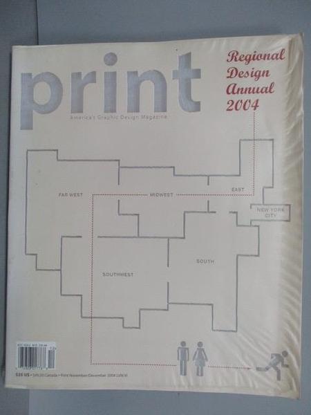 【書寶二手書T9/設計_QMW】PrintLVIII:VI2004_Print s Regional Design Annual 2004