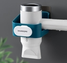 吹風機置物架免打孔衛生間壁掛式電吹風機掛架浴室收納架風筒架子 小时光生活馆