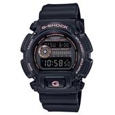CASIO G-SHOCK 80年代經典復刻時光錶-黑X玫瑰金(DW-9052GBX-1A4)
