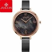 JULIUS 聚利時 秘戀星際米蘭錶帶腕錶-黑旋風/36mm【JA-1109E】