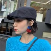 貝雷帽季時尚復古前進帽女百搭貝雷帽韓版潮日系鴨舌帽mona同款帽子【快速出貨】