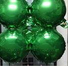 小四輪(圓)造型鋁箔氣球-綠色(未充氣)~~求婚道具/婚禮 生日 耶誕節 尾牙佈置