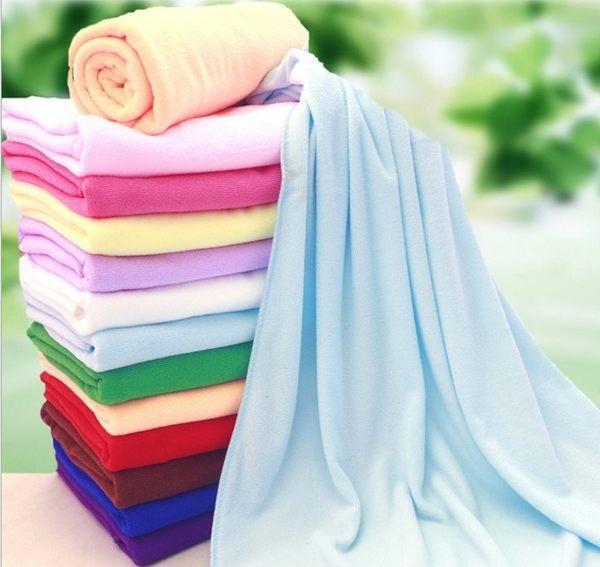 韓式薄款偏厚超細纖維大浴巾 / 快乾吸水毛巾(隨機色) 單入 69元