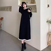 連衣裙 胖mm大碼2021春新款法式打底裙內搭中長款毛衣過膝針織連衣裙女【快速出貨八折特惠】