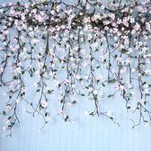 模擬玉蘭花塑膠藤蔓植物客廳室內水管道空調裝飾假花藤條纏繞櫥窗 港仔會社