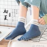 五指襪五指襪子女秋冬季厚款中筒五趾襪純棉船襪女分趾襪純色 多色小屋