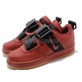 【六折特賣】Nike 休閒鞋 Air Force 1 Utility GS 紅 黑 膠底 女鞋 大童鞋 運動鞋【ACS】 AJ6601-600