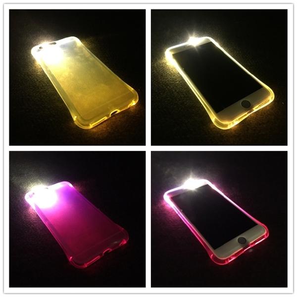King*Shop~防摔來電閃 三星 Note4 手機殼 保護套N9100硅膠軟殼 發光