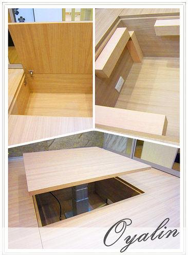 【系統家具】台中旗艦店上掀收納和室-自動升降&手動和式桌 EGGER 防潮塑合板 客製化訂做