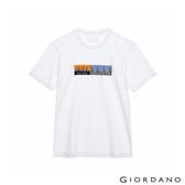 【GIORDANO】男裝Distance印花T恤 - 10 標誌白
