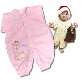 BabyShare時尚孕婦裝【TW1141】台灣製 卡通滿版圖案 寶寶連身衣 兔裝 手套 長袍 0-12月適穿