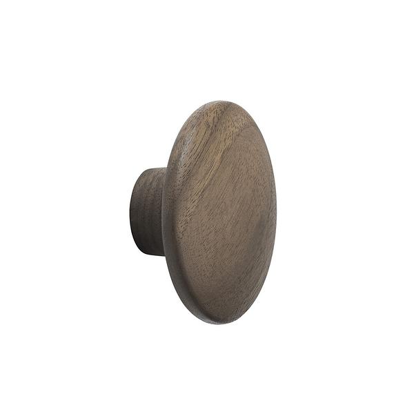 丹麥 Muuto The Dots Wood Coat Hooks 6.5cm 點點造型 木質 衣帽勾 - 迷你尺寸 6.5cm(胡桃木色)