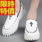 厚底休閒鞋-個性龐克風秋冬嚴選男鬆糕鞋2...