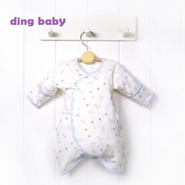 ding baby 繽紛樂園反摺蝴蝶裝-藍色(50-60cm) C-180110-B0