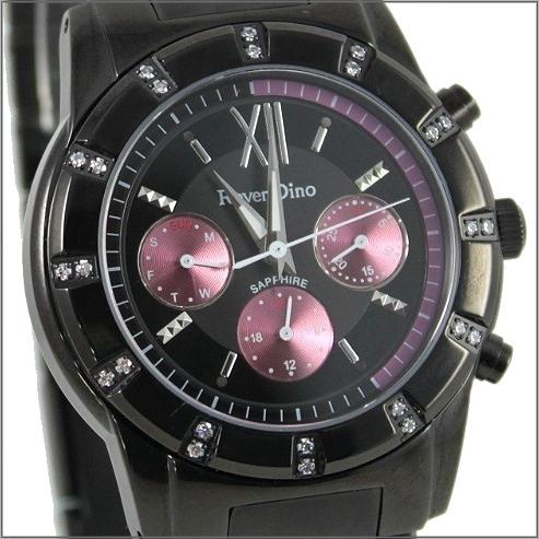 【萬年鐘錶】 Roven Dino 羅梵迪諾 楊丞琳代言 三眼全黑紫圈大 RD607B