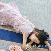 女童連衣裙夏裝童裝大童短袖公主裙2018新款假兩件裙兒童洋氣裙子