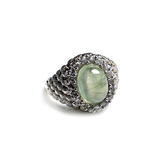 銀葡萄石 綠碧柳戒指 時尚女款高檔