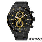 SEIKO 精工 太陽能黑金計時錶SSC541P1 V176-0AS0SD 免運/42mm