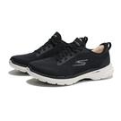 SKECHERS 健走鞋 GO WALK 6 黑白 網布 假鞋帶 休閒 女(布魯克林) 124512WBKW
