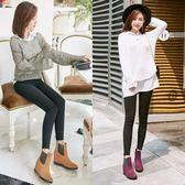 秋冬款時尚坡跟雨鞋女式絨面內增高雨靴防水防滑水鞋中筒保暖膠鞋 降價兩天