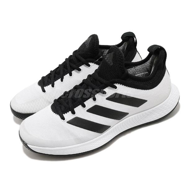 adidas 網球鞋 Defiant Generation M 白 黑 男鞋 襪套式 運動鞋 【ACS】 FX5809