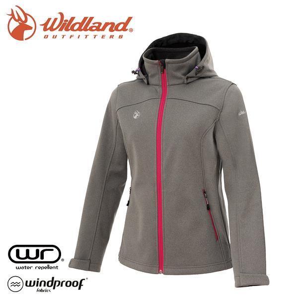 【Wildland 荒野 女 三層貼防風保暖功能外套《灰》】0A72907/夾克/運動外套/抗風透氣