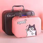 化妝包小號便攜正韓簡約 可愛少女心收納方包 手提隨身品箱大容量 全館八八折鉅惠促銷