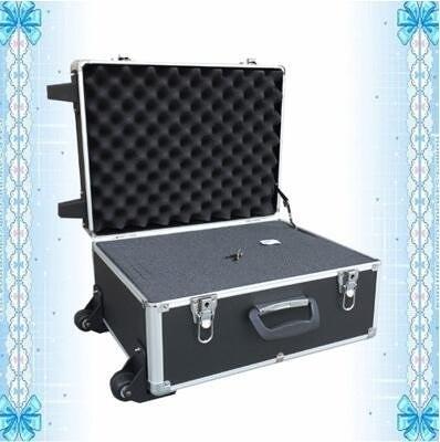 鋁合金工具箱拉桿箱儀器箱旅行箱攝影機箱收納箱設備箱手提箱鋁箱(黑色箱放滿萬能海綿)