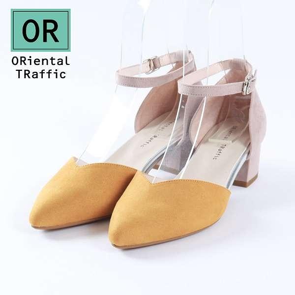 【ORiental TRaffic】時尚V口繞踝瑪麗珍鞋-自信黃